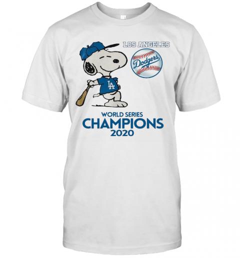 Snoopy Play Baseball Los Angeles Dodgers World Series Champions 2020 shirt Classic Men's