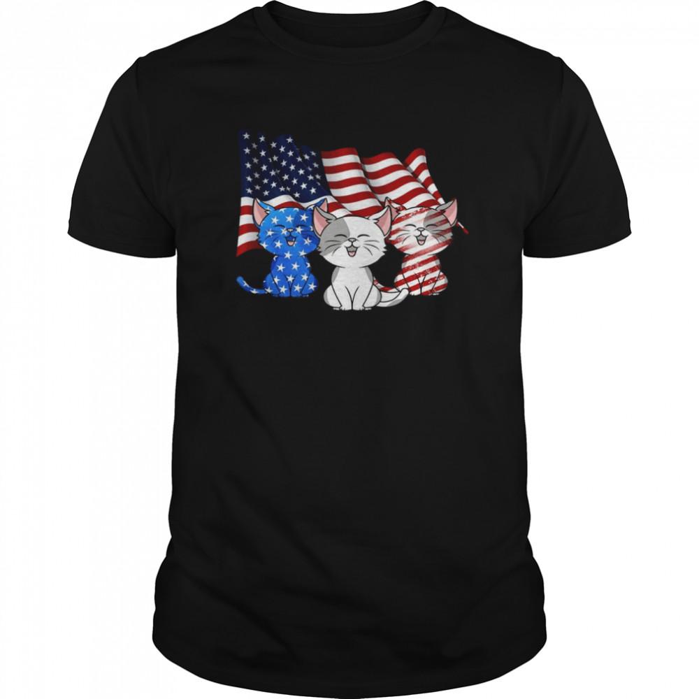 American Flag Cats shirt Classic Men's
