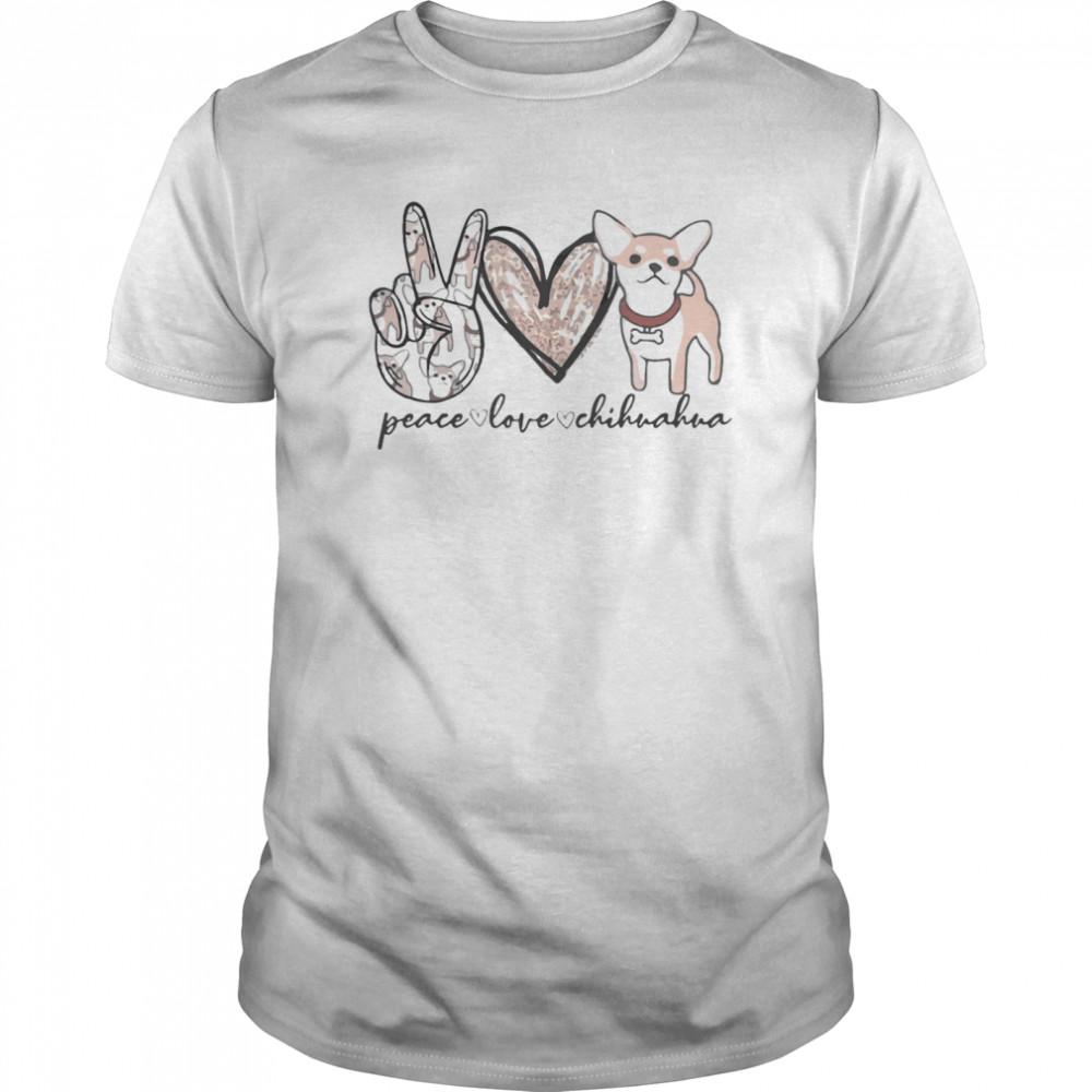 Peace Love Chihuahua Victory shirt Classic Men's