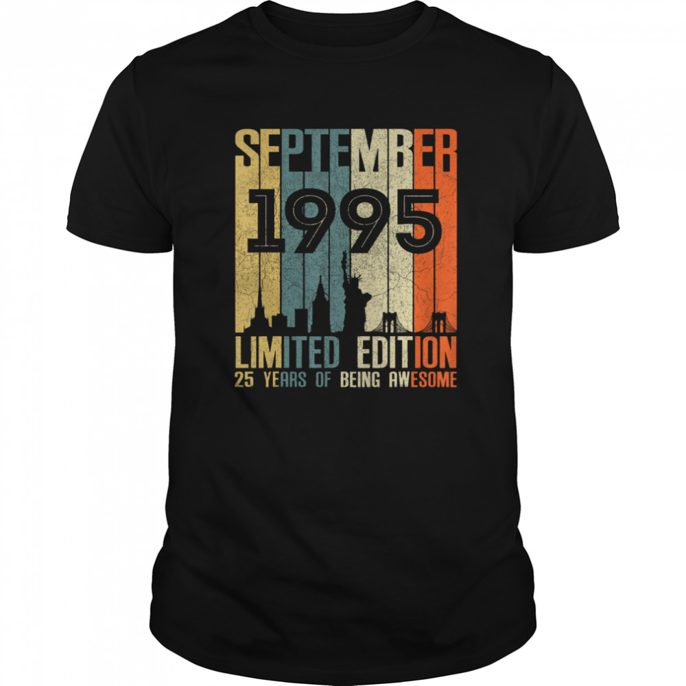 September 1995 Limited Edition 25 Years Of Being Anwesome shirt Classic Men's