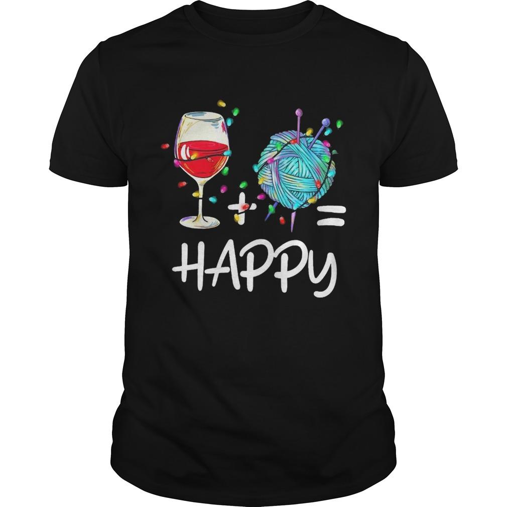Wine Plus Crochet Is Happy shirt Classic Men's