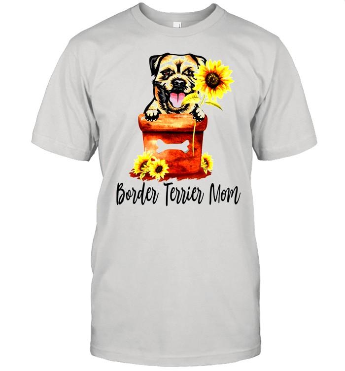 Women's Sunflower Border Terrier Mom Dog Lover Gifts shirt Classic Men's T-shirt