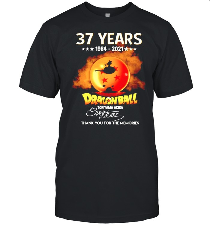 37 years Dragon Ball 1984-2021 Toriyama Akira signature thanhk you for the memories shirt Classic Men's T-shirt