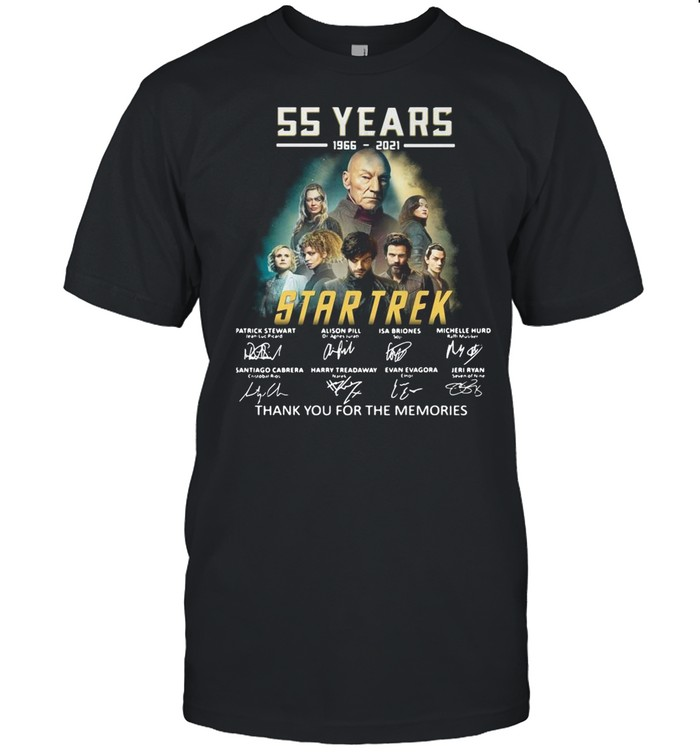 55 years 1966-2021 Star Trek thank you for the memories signatures shirt Classic Men's T-shirt