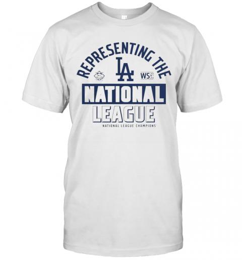 Los Angeles Dodgers Fanatics Branded 2020 National League Champions Locker Room shirt Classic Men's