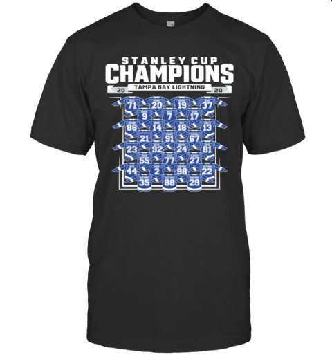 Tampa Bay Lightning 2020 Stanley Cup Champions Roster shirt Classic Men's