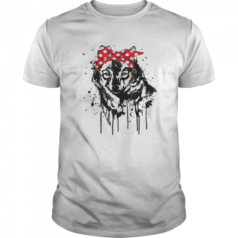 Wolf with Head Bandana Animals shirt Classic Men's