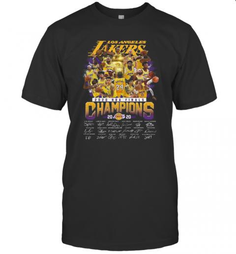 Los Angeles Lakers 2020 NBA Finals Champions Signature shirt Classic Men's