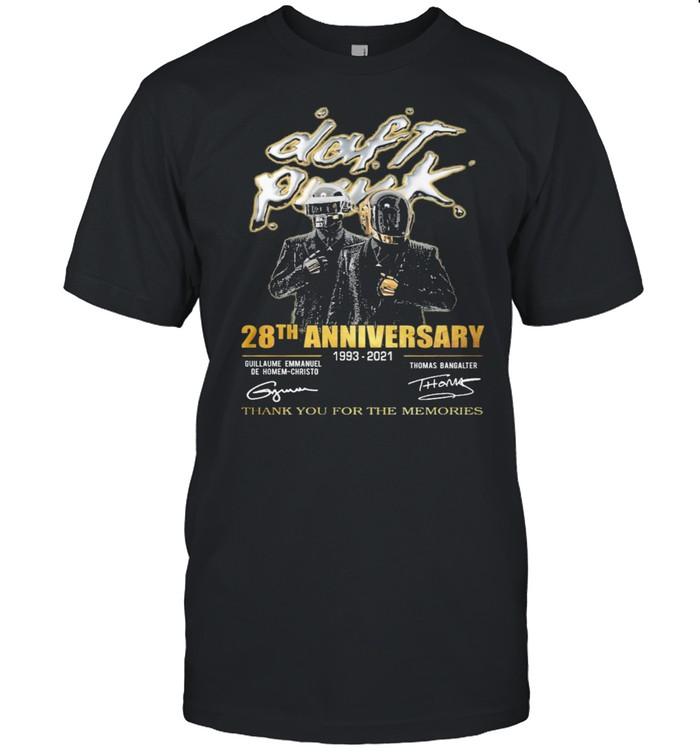 Daft Punk 18th Anniversary 1993 2021 Thanks For The Memories Signature shirt Classic Men's T-shirt