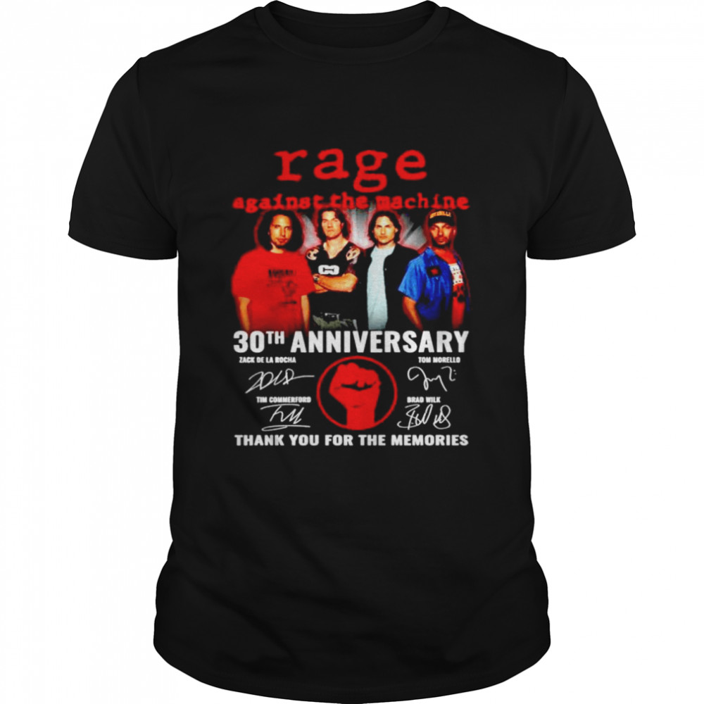 Rage against the machine 60Th anniversary signature thank for the memories shirt Classic Men's T-shirt