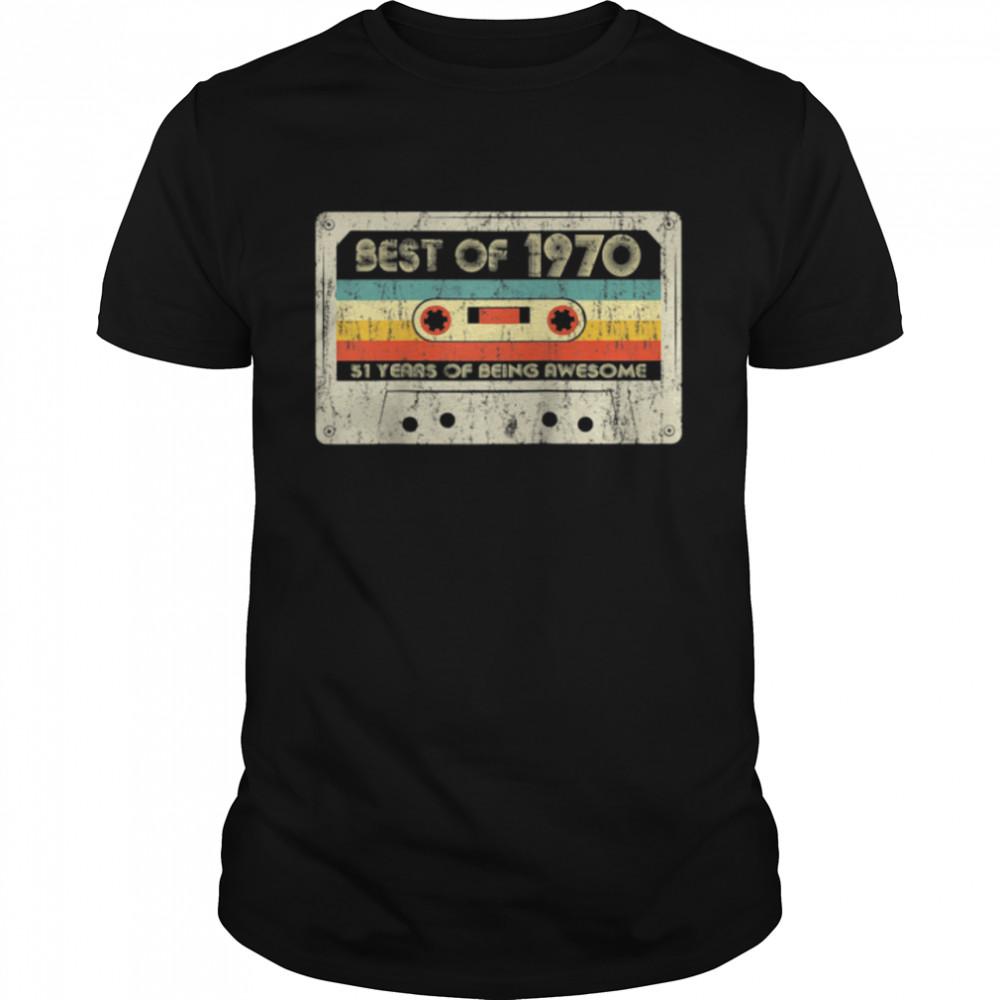 51st Birthday Retro Best Of 1970 Cassette Tape Vintage shirt Classic Men's T-shirt