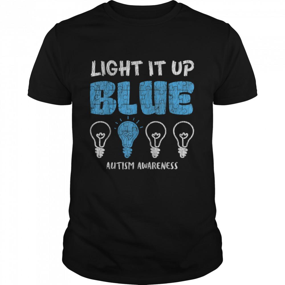 Autism Awareness Light It Up Blue Autistic Awareness shirt Classic Men's T-shirt