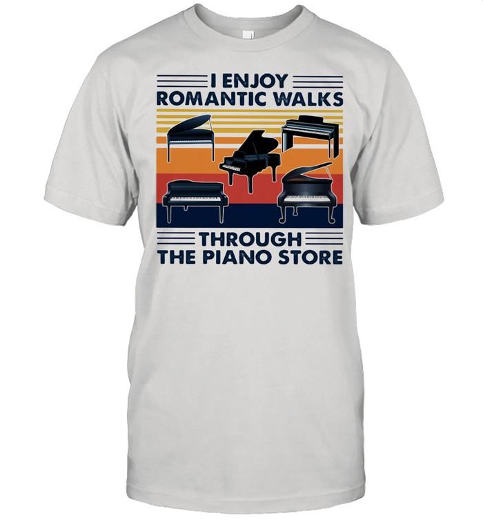 I enjoy romantic walks through the piano store vintage shirt Classic Men's T-shirt