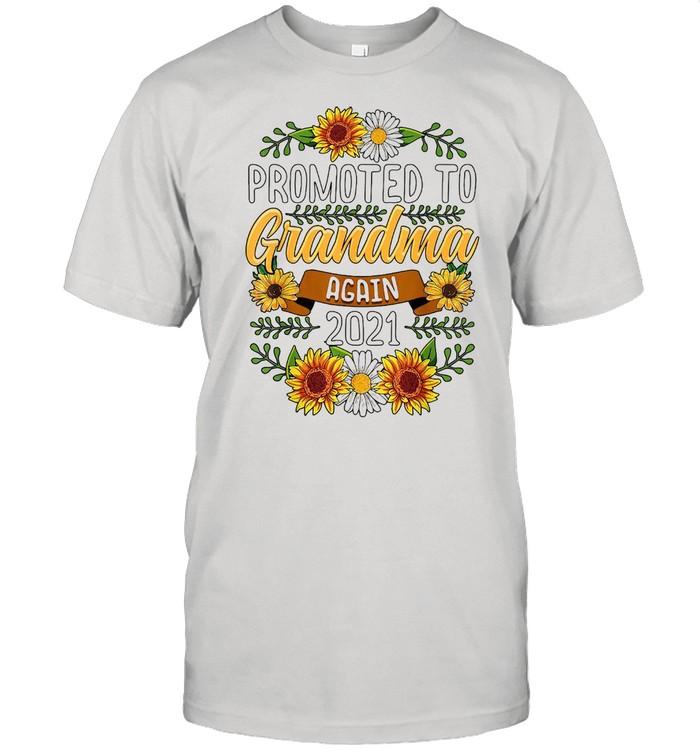 Sunflower Promoted To Grandma Again 2021 T-shirt Classic Men's T-shirt