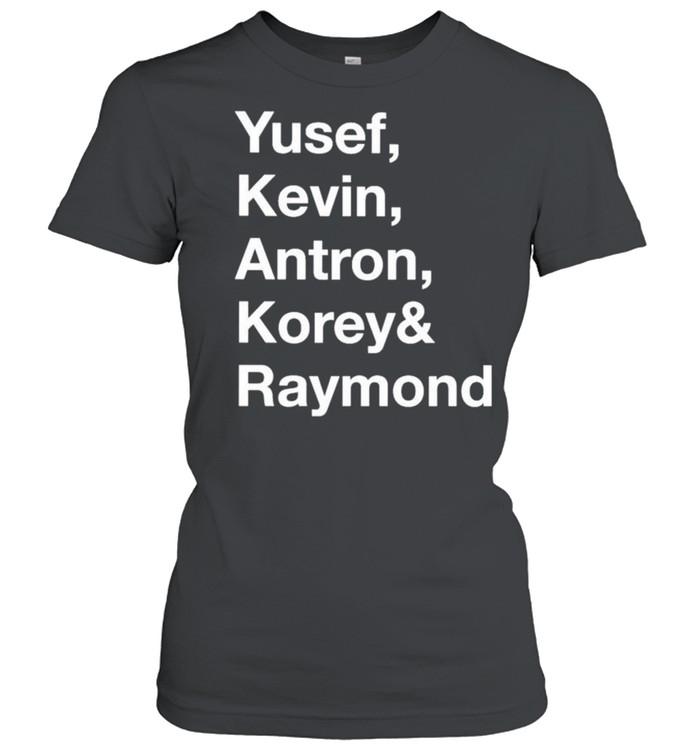 Yusef kevin antron korey and raymond shirt Classic Women's T-shirt