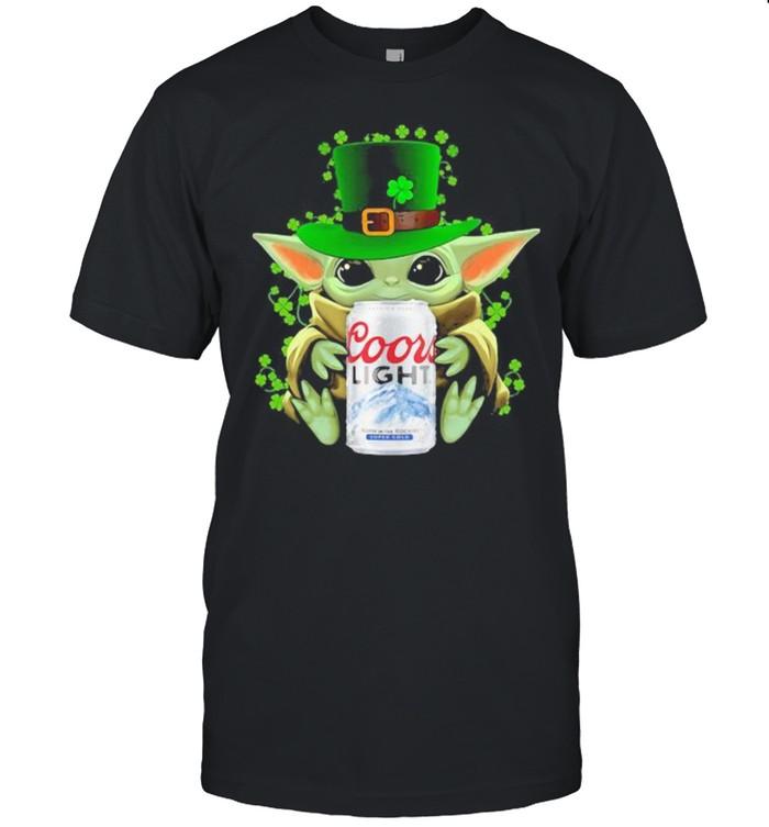 Baby Yoda Hug Coor Light Irish Patricks Day  Classic Men's T-shirt