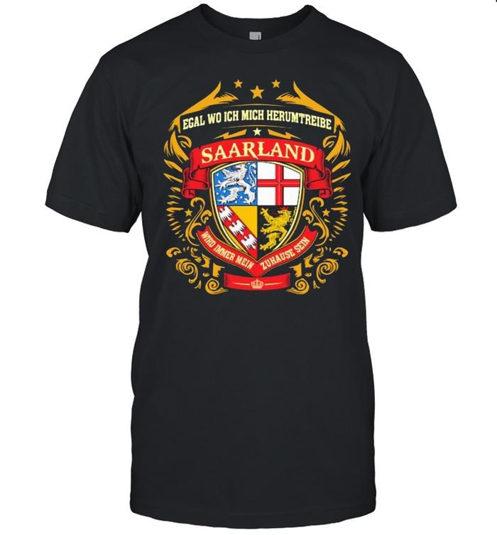 Egal Wo Ich Mich Herumtreibe Saarland  Classic Men's T-shirt
