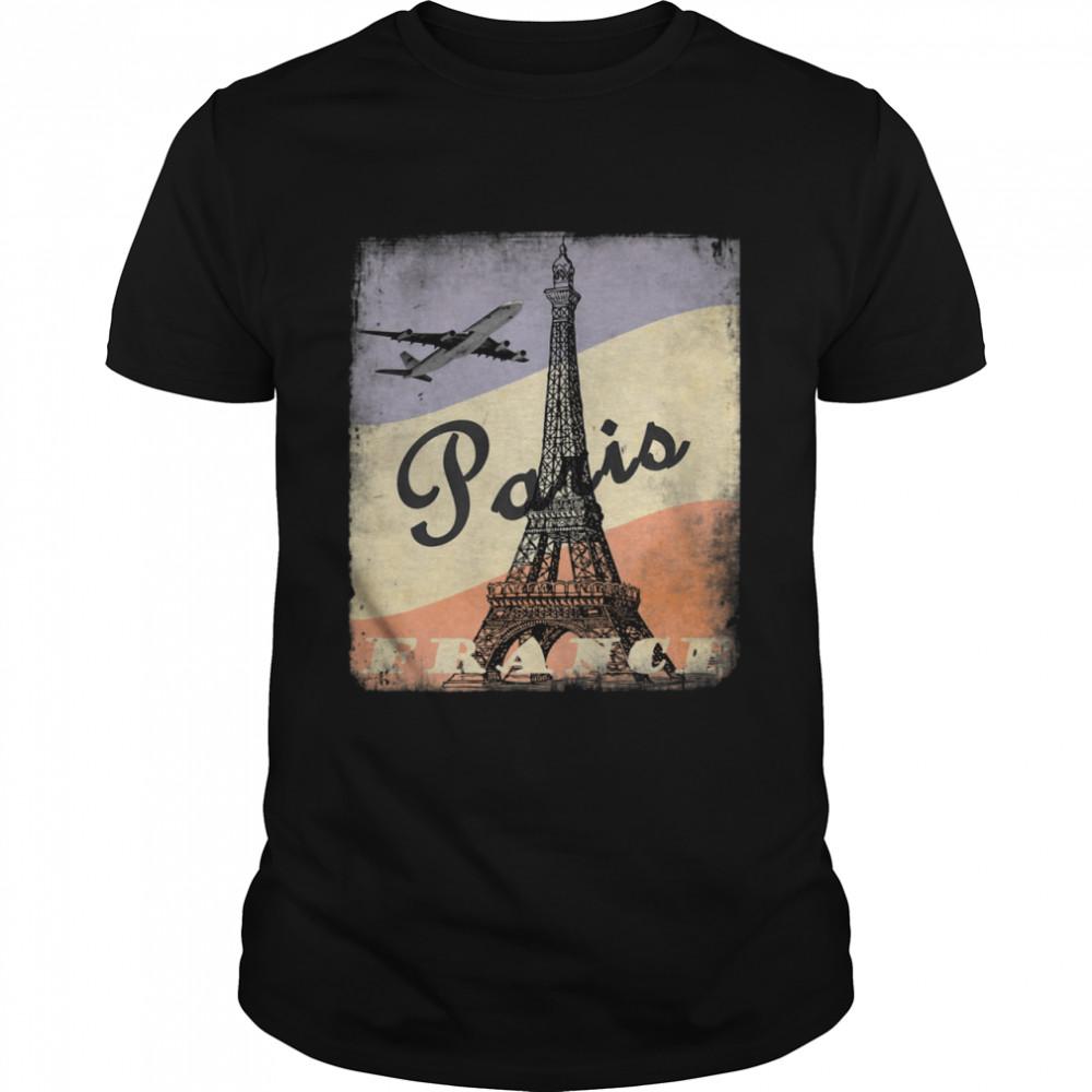Cool Vintage Aesthetic Authentic 50's Old School Paris shirt Classic Men's T-shirt