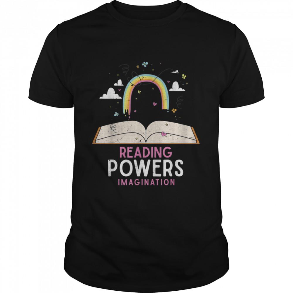 Lesen verstärkt die Vorstellungskraft Regenbogen Buch Lesen shirt Classic Men's T-shirt