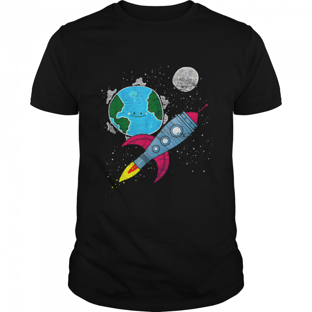 Moon Space Earth Rocket Cosmonaut Junior Astronaut shirt Classic Men's T-shirt