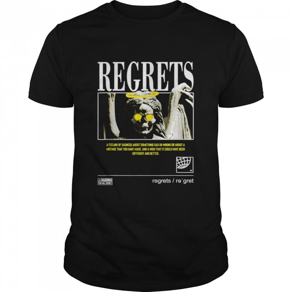 Regrets Angel Graffiti Sad Aesthetic Edgy Streetwear shirt Classic Men's T-shirt