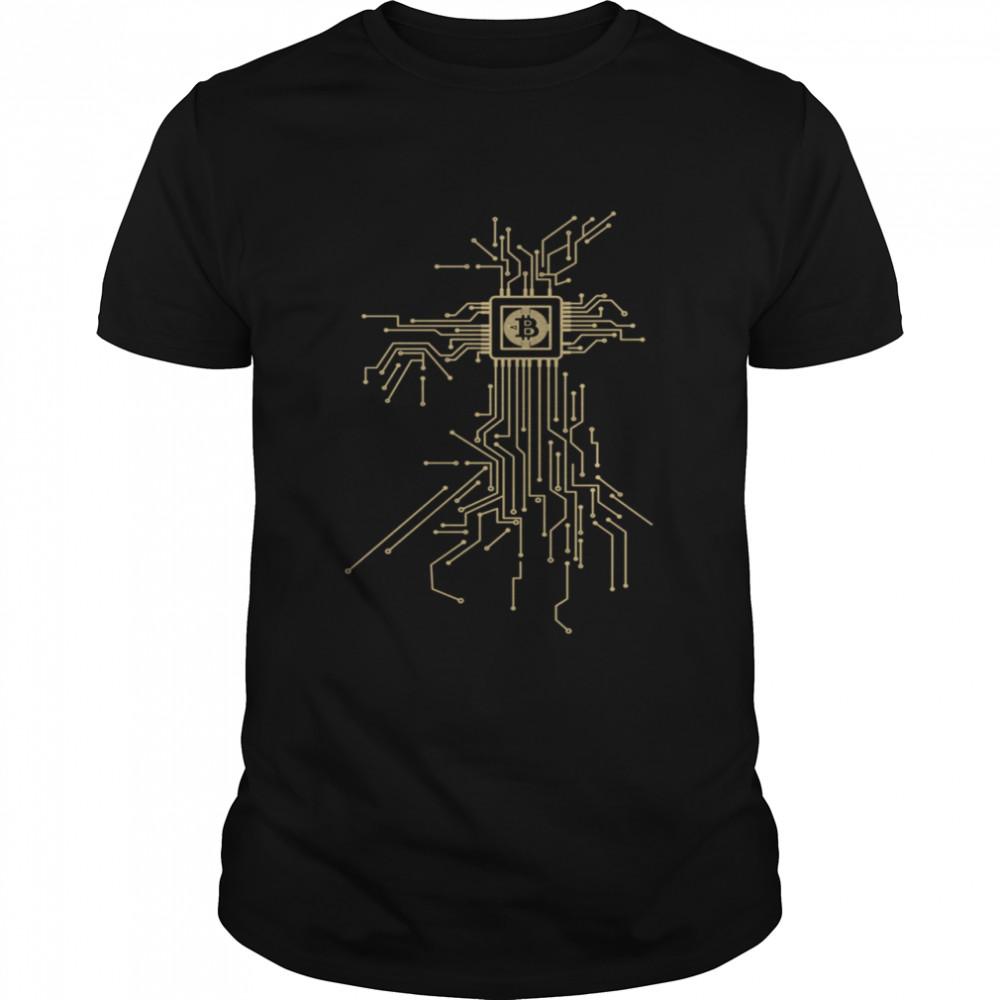 Bitcoin Coin I BTC I Processor I CPU shirt Classic Men's T-shirt