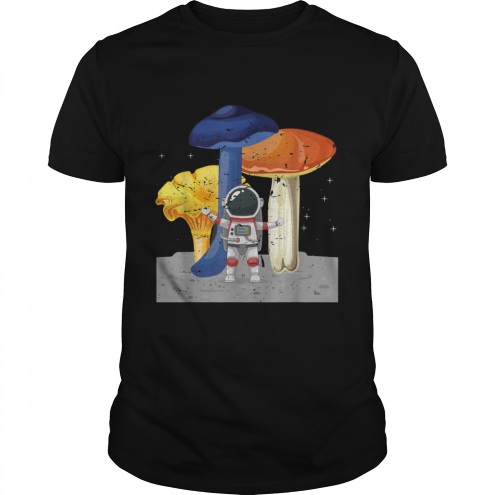 Cool Space Astronaut Psychedelic Magic Mushroom shirt Classic Men's T-shirt