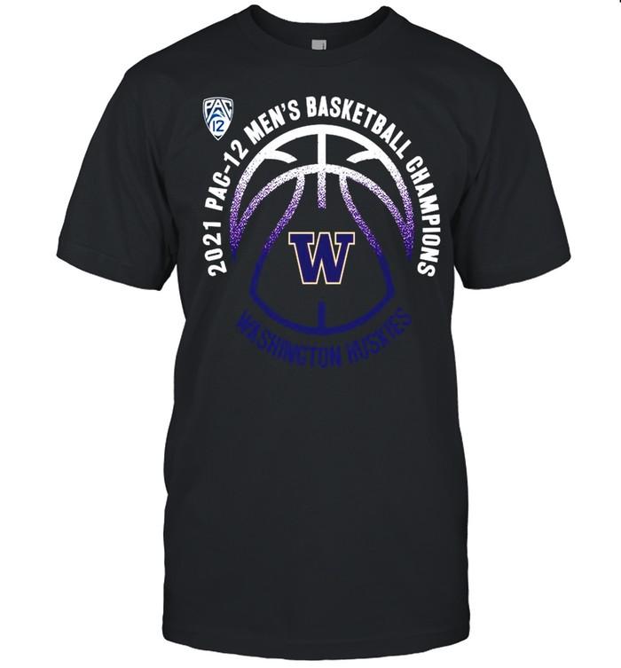Washington Huskies 2021 PAC-12 men's basketball champions shirt Classic Men's T-shirt