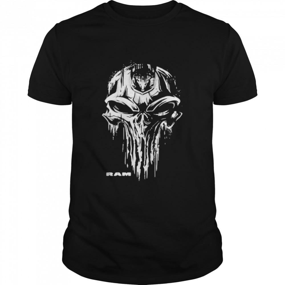 Punisher With Ram Trucks Logo  Classic Men's T-shirt