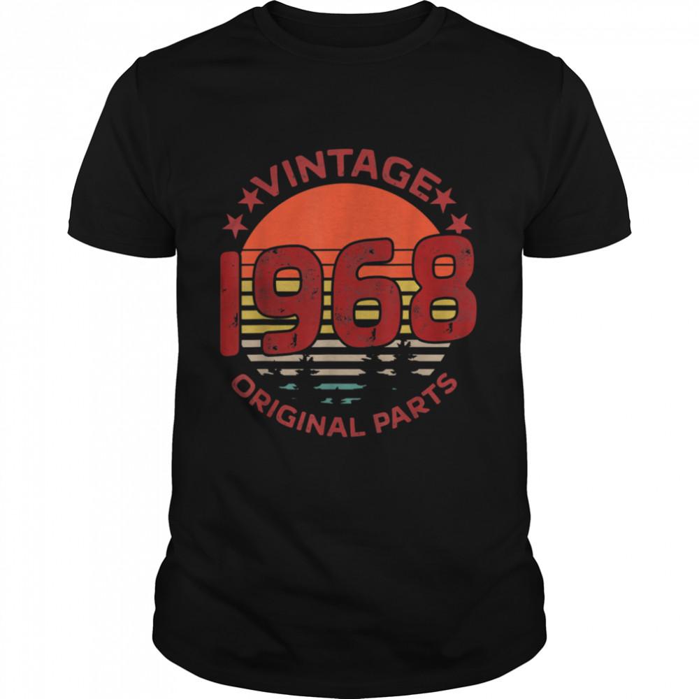 Vintage 1968 Original Parts Birthday  Classic Men's T-shirt
