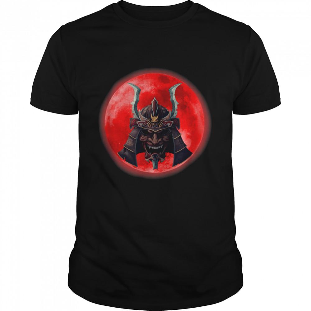 Kabuki Samurai and Blood Moon  Classic Men's T-shirt