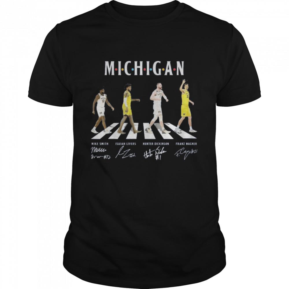 Michigan Football abbey road signatures shirt Classic Men's T-shirt