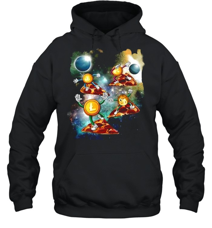 Bitcoin To The Moon Dogecoin Coin Miner HODL Cryptocurrency T-shirt Unisex Hoodie
