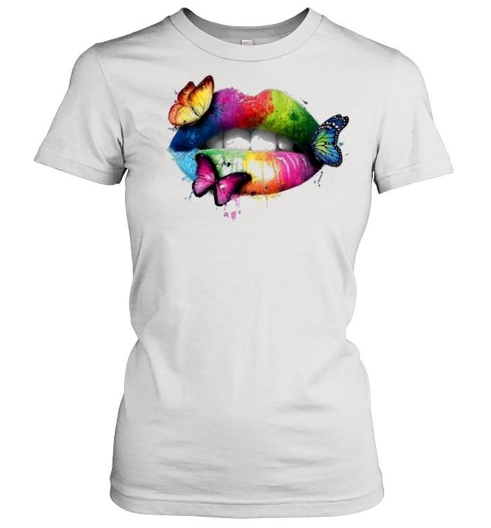 Butterfly Lips Women Tees Fashion 3D Print shirt Classic Women's T-shirt