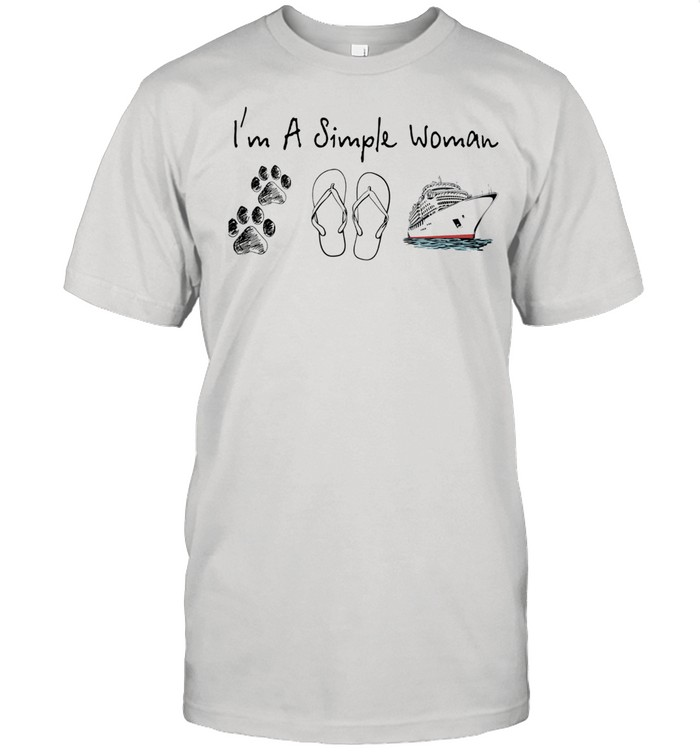 Im a simple woman dog flip flop and boat shirt Classic Men's T-shirt