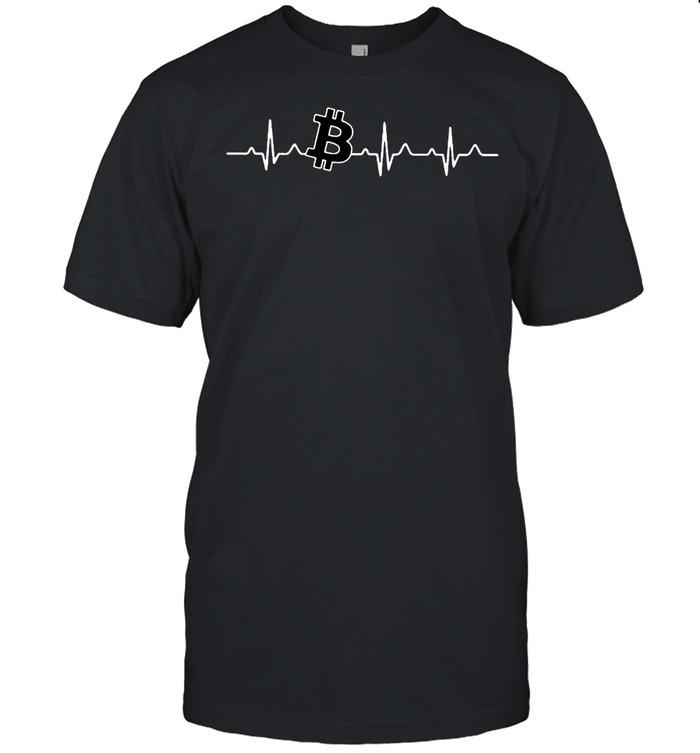 Bitcoin heartbeat shirt Classic Men's T-shirt