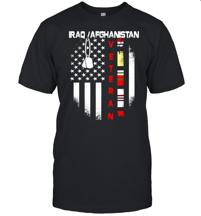 Iraq Afghanistan Veteran Flag Patriotic T- Classic Men's T-shirt