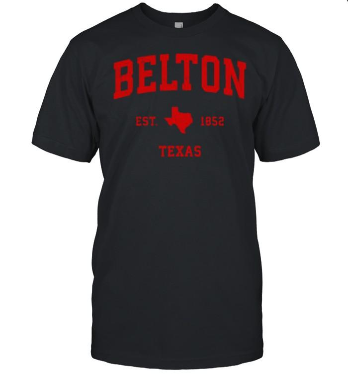 Belton Texas TX Est 1852 Vintage Sports T- Classic Men's T-shirt
