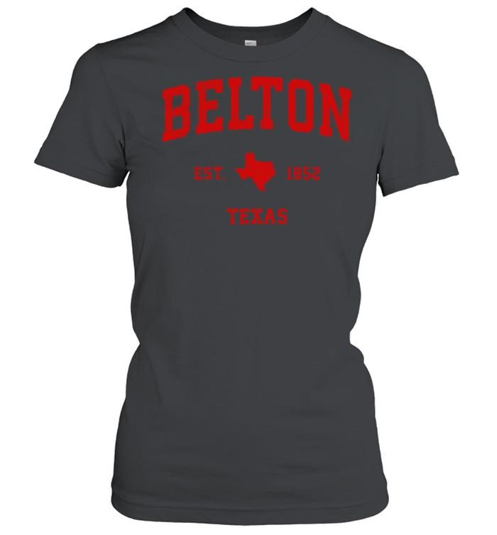 Belton Texas TX Est 1852 Vintage Sports T- Classic Women's T-shirt