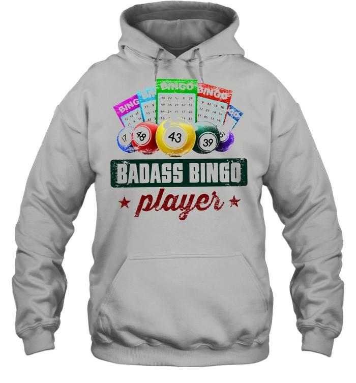 Badass bingo player t-shirt Unisex Hoodie