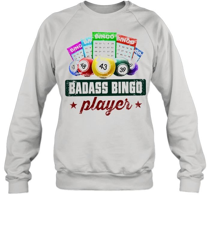 Badass bingo player t-shirt Unisex Sweatshirt