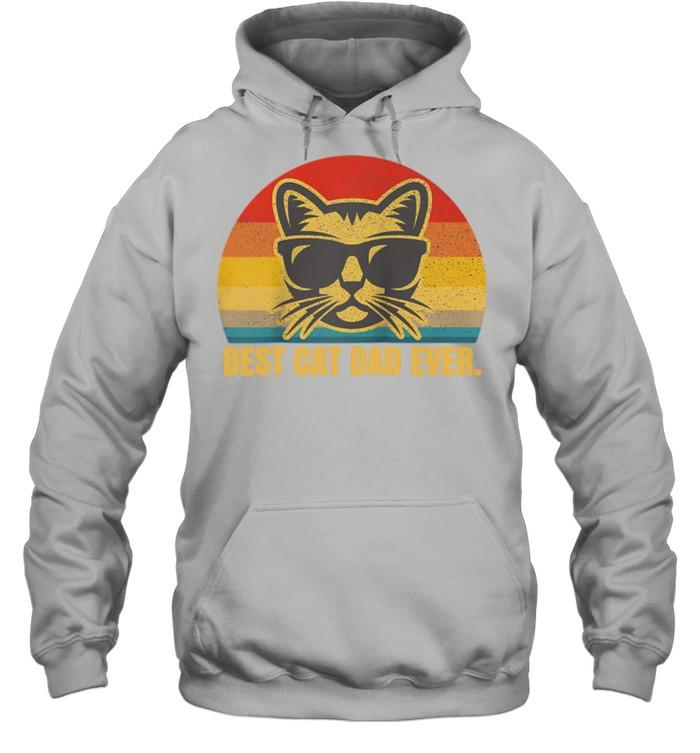 Best Cat Dad Feline Kitty Fathers Day shirt Unisex Hoodie