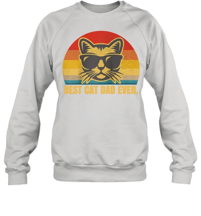 Best Cat Dad Feline Kitty Fathers Day shirt Unisex Sweatshirt