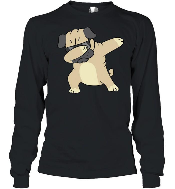 Pug Dabbing Pug Pug Puppy Dog Owner Pug shirt Long Sleeved T-shirt