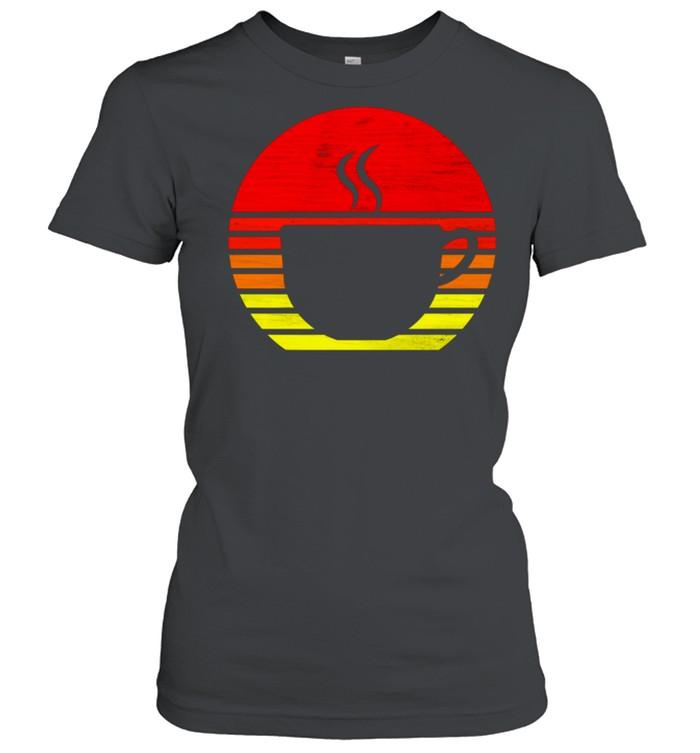 Retro Coffee Mug Silhouette shirt Classic Women's T-shirt