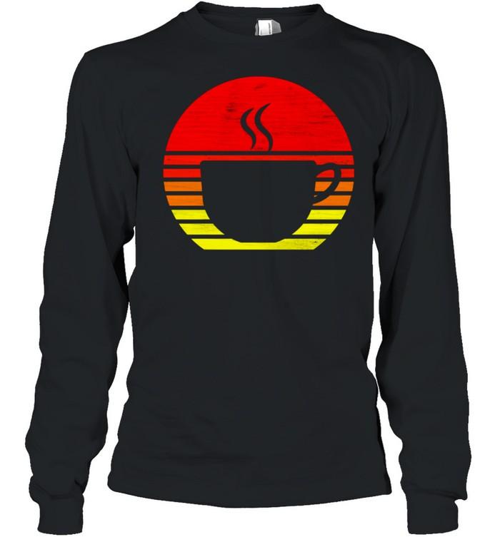 Retro Coffee Mug Silhouette shirt Long Sleeved T-shirt