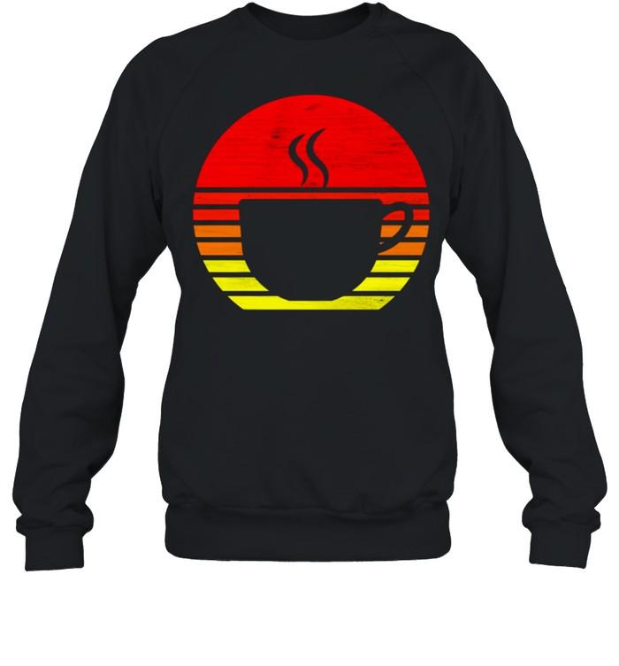 Retro Coffee Mug Silhouette shirt Unisex Sweatshirt