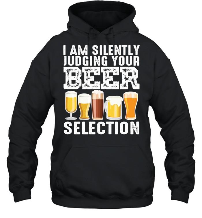 Silently Judging Your Beer Cool Craft Beer Drink shirt Unisex Hoodie