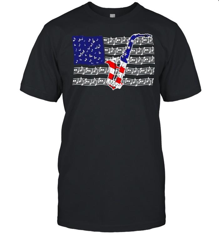 Saxophone 4th of July shirt Classic Men's T-shirt