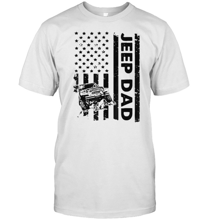 Jeep Dad American Flag 4th of July T- Classic Men's T-shirt